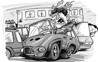 平时情绪不稳定、性格急躁的开车族,容易患路怒症.-路怒族 开车急