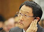 丰田章男在听证会现场