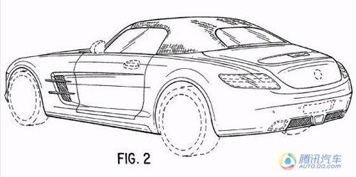 2012款奔驰sls amg敞篷车专利图曝光图片