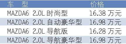 博程:马6推出导航版 售16.28万-16.98万