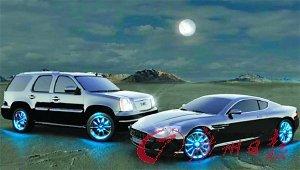汽车也穿鞋 Motionlite给车轮装上LED灯