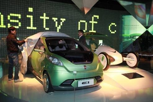 北京车展大揭密 上汽纯电动概念车E1亮相