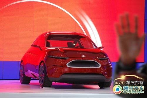 [车展探营]福特全球首发概念车展台到位