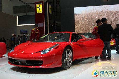 [车展探营]如火焰般耀眼 法拉利458Italia