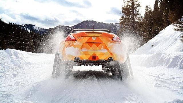 日产展示370Zki雪地车 魔改四轮传动系统