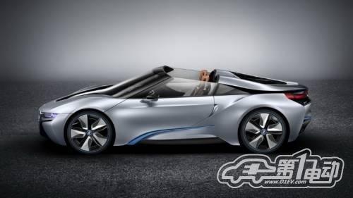 宝马i8混合动力跑车2014年投产售价80万高清图片