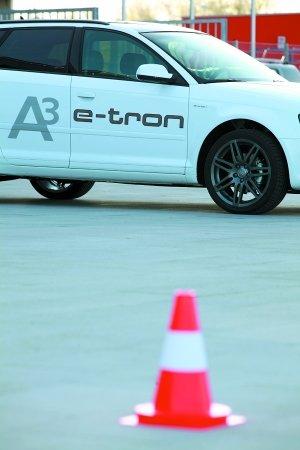 静-电 试驾纯电动汽车奥迪A3 e-tron