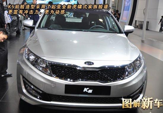 [图解新车]韩流来袭 图解进口起亚K5