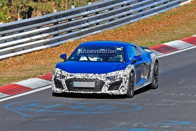 奥迪R8 GT纽北赛道测试谍照曝光 有望达到640马力