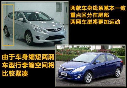 11月全球首发 北京现代将推出两厢版瑞纳
