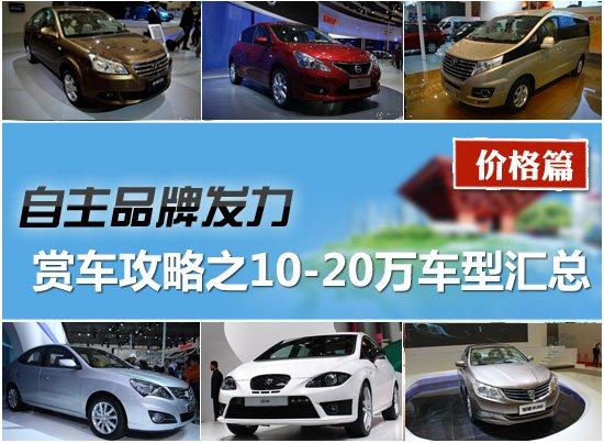 2011上海车展赏车攻略之10-20万车型汇总