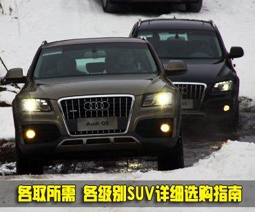 各取所需 各级别SUV车型详细选购指南