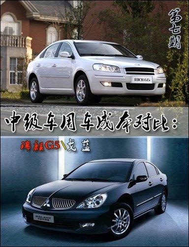 中级车用车成本对比第七期 戈蓝PK瑞麒G5