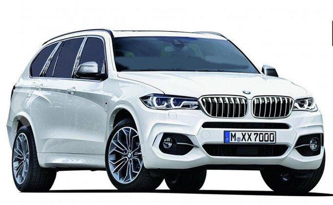 宝马将会推出的豪华SUV车型X7效果图,前脸也会出现开眼设计