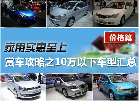 2011上海车展赏车攻略之10万以下车型汇总