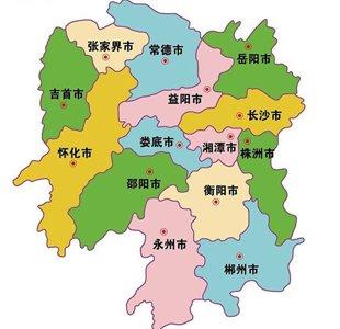 岳阳楼手绘地图