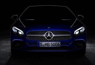 奔驰改款SL级预告图发布 洛杉矶车展首发