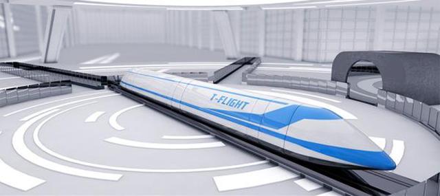 """中国将研制新一代""""高速飞行列车""""图片"""