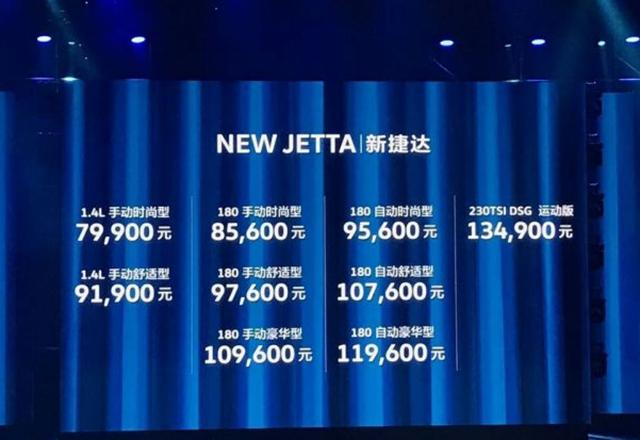 一汽-大众新捷达正式上市 售7.99-13.49万