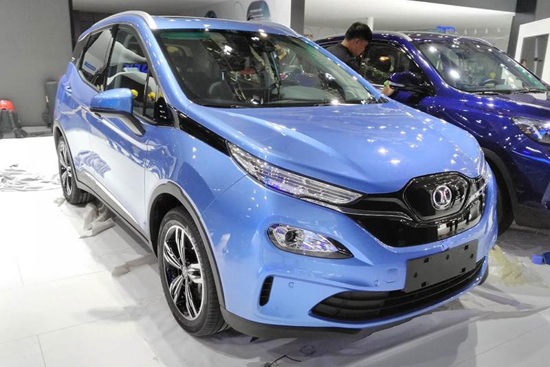 车展探营:续航501km+ 北汽新能源EX3小型纯电SUV