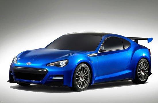 斯巴鲁在2011年洛杉矶车展上发布的brz concept概念车高清图片