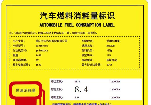 曝长安睿骋1.5T版动力信息 油耗8.4L/100km