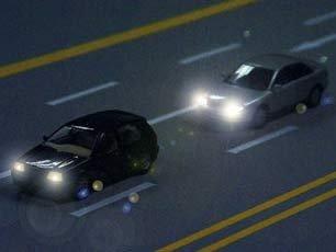 夜间灯光使用口诀 小车司机需熟记高清图片