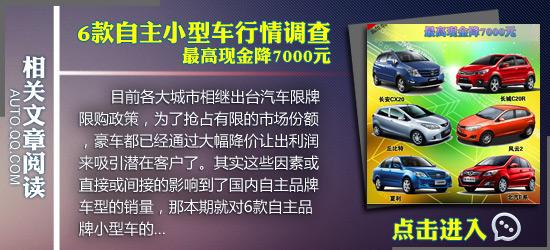 [车价调查]6款10万内配CVT车型行情汇总