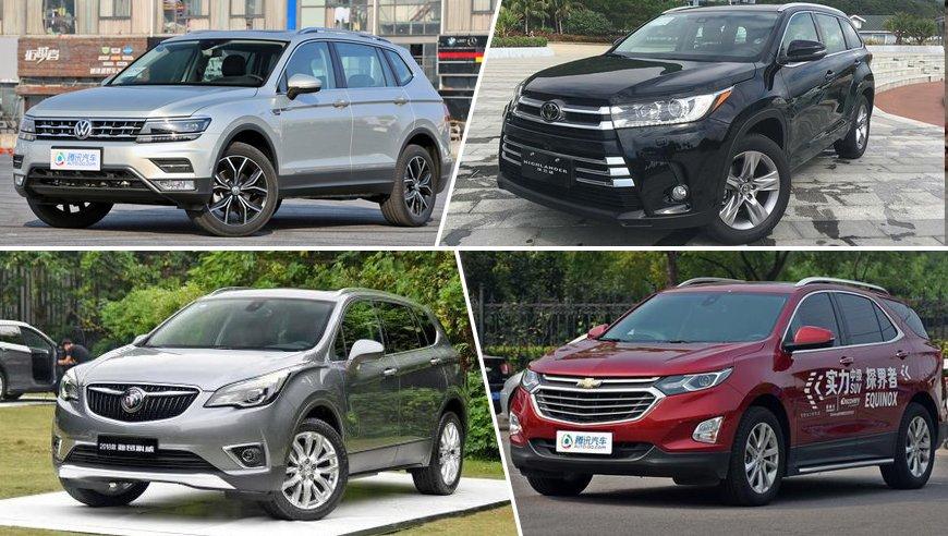 大五座车型受追捧 四月热销中型SUV盘点