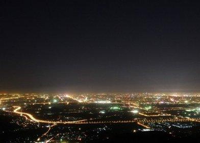 香山――看北京城夜景