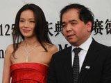 北京奔驰汽车有限公司执行副总裁司卫与著名女演员舒淇