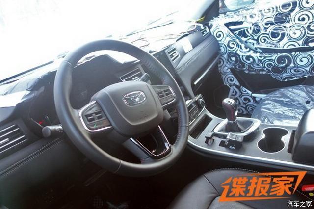 全新7座中型SUV 凯翼X7最新谍照曝光