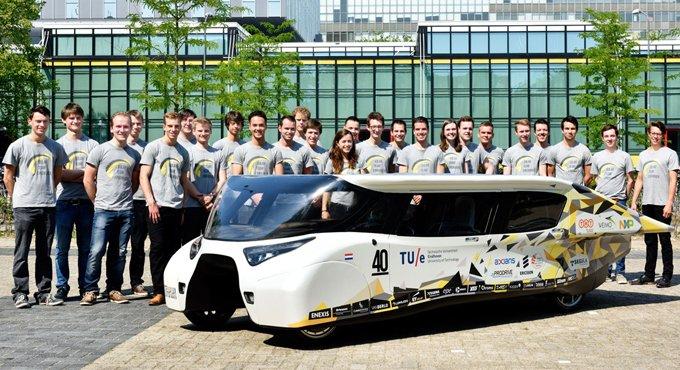 4座太阳能车!充满1次行驶1100km
