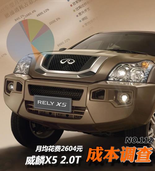 威麟X5用车成本调查:月均花费2604元