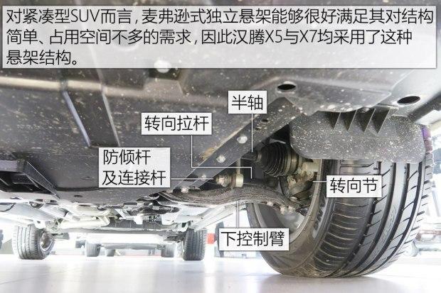 较为常见的便是结构简单,减少侵占发动机舱空间的麦弗逊式悬架,汉腾x5
