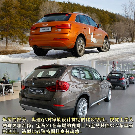 豪华紧凑型SUV对决 国产奥迪Q3对比宝马X1