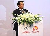 乒羽中心主任刘凤岩发表讲话