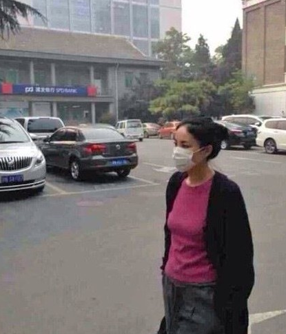 王菲休闲造型现身街头 戴口罩遮面神情严肃