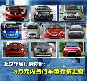 北京车展行情特辑:8万元内热门车型行情