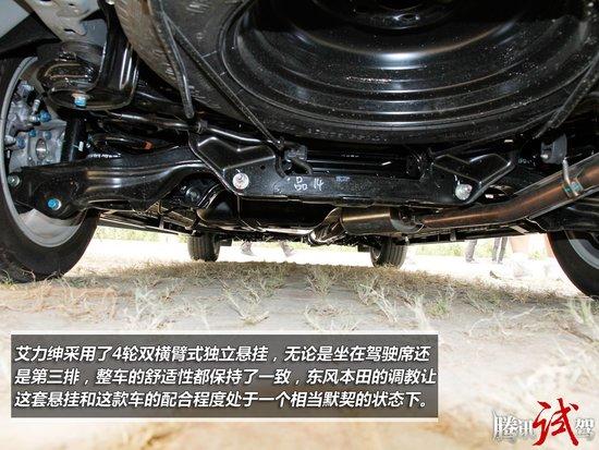 东风本田艾力绅vti-s   艾力绅采用了4轮双横臂式独立悬挂,高清图片
