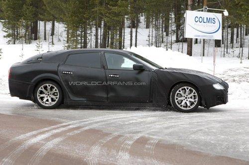 玛莎拉蒂总裁新谍照 搭V8引擎/加长轴距