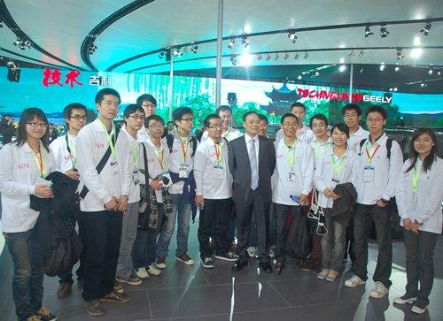 北京车展迎来史上首批大学生注册记者