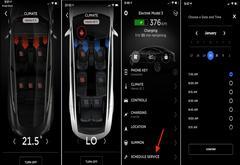 特斯拉更新移动应用程序 可远程加热座椅安排汽车服务