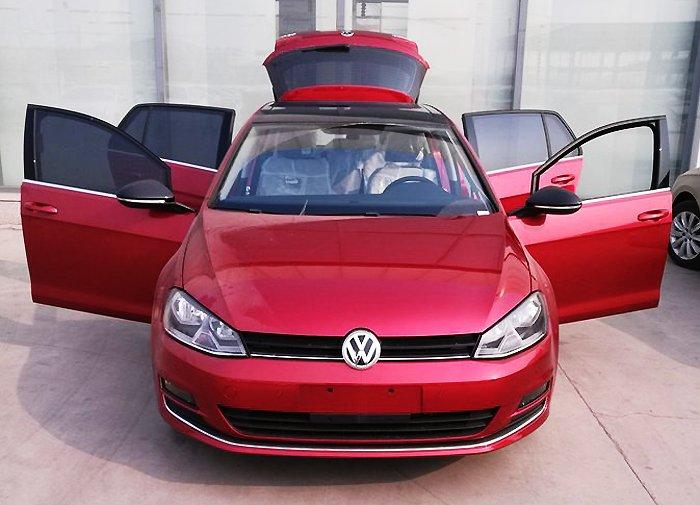高尔夫自动豪华1.4T提车作业
