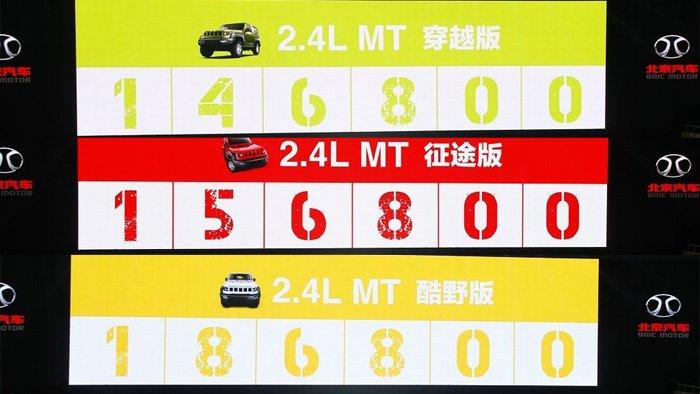 北京汽车BJ40正式上市 售14.68-18.69万元