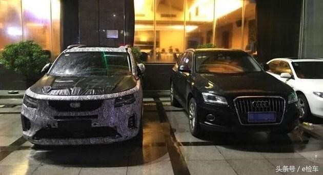 """曝吉利中大型SUV VF12最新谍照 配""""雷神之锤""""头灯"""