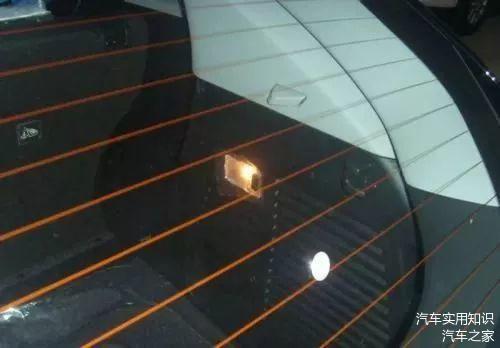 汽车后挡玻璃上的横线到底是干啥用的