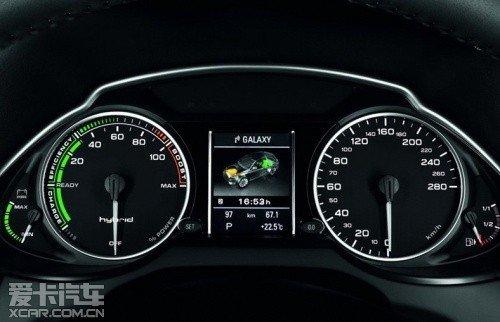 奥迪Q5 Hybrid仪表盘-百公里油耗7L 奥迪Q5混动版6月27日上市高清图片