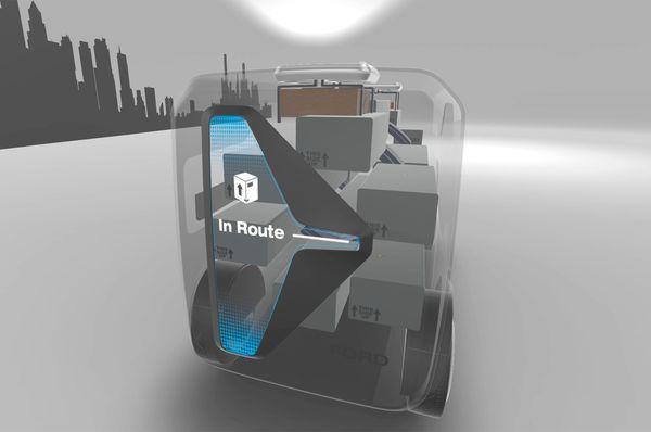 """福特展示""""黑科技"""" 自动驾驶汽车 无人机"""