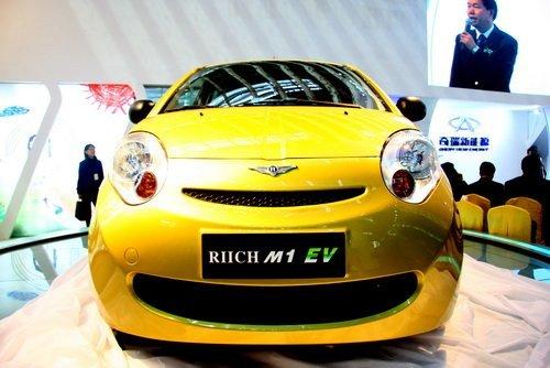 奇瑞首款高速纯电动汽车瑞麒M1 EV上市高清图片
